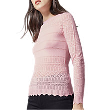 Buy Warehouse Pretty Pointelle Jumper Online at johnlewis.com
