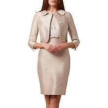 Buy Hobbs Viv Jacket, Oyster Online at johnlewis.com