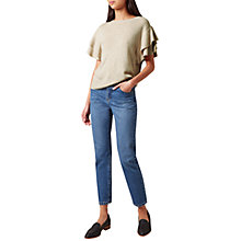 Buy Hobbs Hetty Knitted Top, Stone Melange Online at johnlewis.com