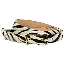 Buy Hobbs Katie Leather Belt, Zebra Online at johnlewis.com