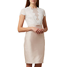 Buy Hobbs Viv Dress, Oyster Online at johnlewis.com