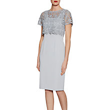 Buy Gina Bacconi Crepe Dress With Primrose Guipure Top Online at johnlewis.com