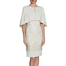 Buy Gina Bacconi Moss Crepe Cape, Butter Cream Online at johnlewis.com