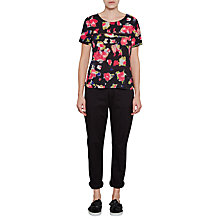 Buy French Connection Bella Crepe Top, Black/Multi Online at johnlewis.com