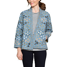 Buy East Floral Embroidery Jacket, Navy/Multi Online at johnlewis.com