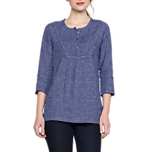 Buy East Linen Check Blouse, Nightshade Online at johnlewis.com