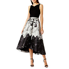 Buy Coast Steffie Jacquard High-Low Dress, Silver Online at johnlewis.com