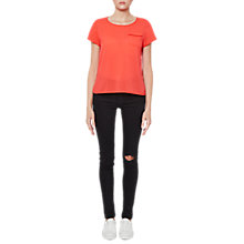 Buy French Connection Classic Crepe Light Pocket Top Online at johnlewis.com