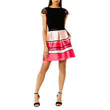 Buy Coast Bayshore Stripe Skirt, Pink Online at johnlewis.com