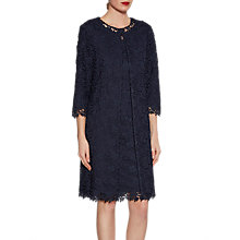 Buy Gina Bacconi Primrose Guipure Lace Coat, Spring Navy Online at johnlewis.com