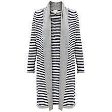 Buy East Longline Stripe Cardigan, Smoke Online at johnlewis.com