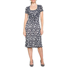 Buy East Marrisa Pleated Tie Front Dress, Indigo Online at johnlewis.com