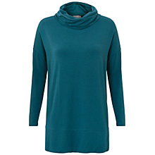 Buy East Slouchy Cowl Neck Jersey Top, Teal Online at johnlewis.com