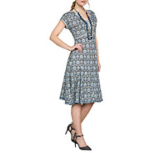 Buy East Sureka Print Dress, Dove Online at johnlewis.com
