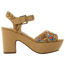 Buy Steve Madden Bonnie Embroidered Platform Sandals, Tan Online at johnlewis.com