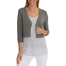 Buy Betty Barclay Short Knitted Cardigan, Titanium Online at johnlewis.com