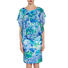 Buy Gina Bacconi Printed Chiffon And Satin Dress, Blue/Green Online at johnlewis.com