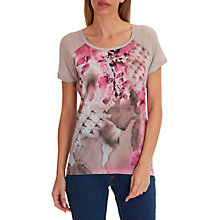 Buy Betty Barclay Floral Print Top, Taupe/Beige Online at johnlewis.com