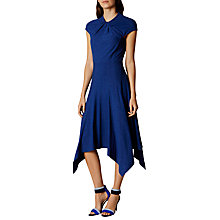 Buy Karen Millen Knot Detail Midi Dress, Blue Online at johnlewis.com