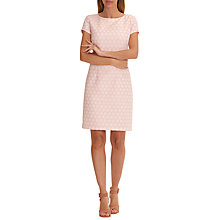 Buy Betty Barclay Textured Shift Dress, Rose/Cream Online at johnlewis.com
