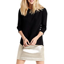 Buy Oasis Crepe Wrap Top, Black Online at johnlewis.com