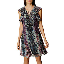 Buy Karen Millen Fluid Snake Shirt Dress, Blue/Multi Online at johnlewis.com
