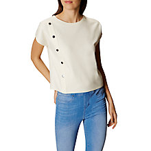 Buy Karen Millen Rivet Detail Top, White Online at johnlewis.com