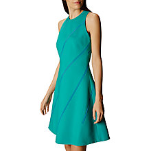 Buy Karen Millen Diagonal Stripe A-Line Dress, Turquoise/Multi Online at johnlewis.com
