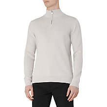 Buy Reiss Sylvester Half Zip Jumper, Oatmeal Online at johnlewis.com