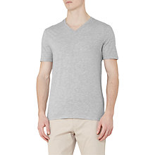 Buy Reiss Dayton V-Neck T-Shirt, Grey Marl Online at johnlewis.com
