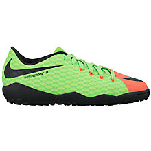 Buy Nike Children's HyperVenom Phelon III TF Football Boots, Multi Online at johnlewis.com