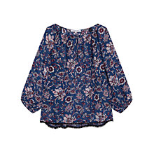 Buy Gerard Darel Cedella Blouse, Blue Online at johnlewis.com