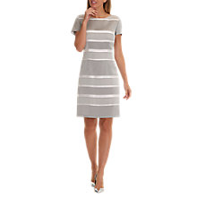 Buy Betty Barclay Striped Satin Shift Dress, Grey/Cream Online at johnlewis.com