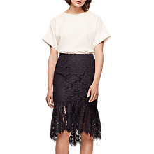 Buy Gerard Darel Jemma Skirt, Navy Blue Online at johnlewis.com
