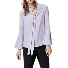 Buy Warehouse Tie Neck Blouse Online at johnlewis.com