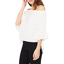 Buy Miss Selfridge Petite Bardot Blouse, Ivory Online at johnlewis.com