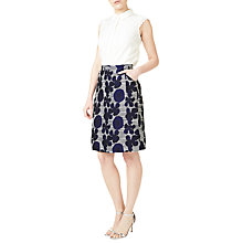 Buy Precis Petite Floral Jacquard Skirt, Black Online at johnlewis.com