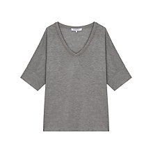 Buy Gerard Darel Tomaz T-Shirt, Light Grey Online at johnlewis.com
