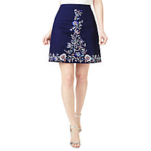 Buy Precis Petite Embroidered Skirt, Navy Online at johnlewis.com