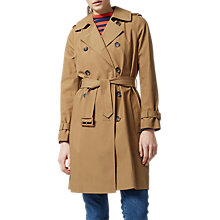Buy Warehouse Stone Trench Coat, Beige Online at johnlewis.com