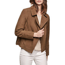 Buy Gerard Darel Viggo Leather Jacket, Camel Online at johnlewis.com