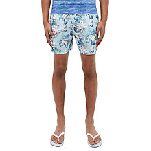 Buy Ted Baker Highams Floral and Parrot Print Swim Shorts, Light Blue Online at johnlewis.com
