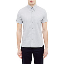 Buy Ted Baker Rexx Poplin Cotton Shirt, Light Grey Online at johnlewis.com