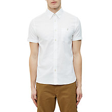 Buy Ted Baker Wooey Textured Cotton Short Sleeve Shirt Online at johnlewis.com