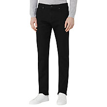 Buy Reiss Allman Stretch Cotton Slim Jeans, Black Online at johnlewis.com