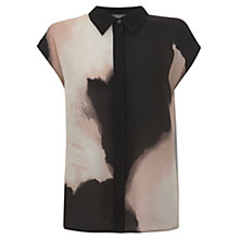 Buy Mint Velvet Rafia Print Blouse, Multi Online at johnlewis.com