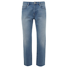 Buy Mint Velvet Montana Straight Jeans, Light Blue Online at johnlewis.com