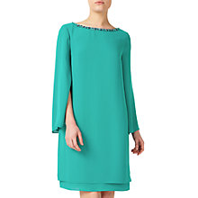 Buy Jacques Vert Petite Embellished Sheath Dress, Bright Green Online at johnlewis.com