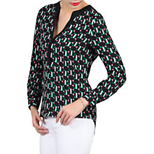 Buy Jolie Moi Geometric Printed Blouse, Black Online at johnlewis.com