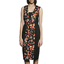 Buy French Connection Bella Ottoman Short Sleeve Dress, Black/Multi Online at johnlewis.com